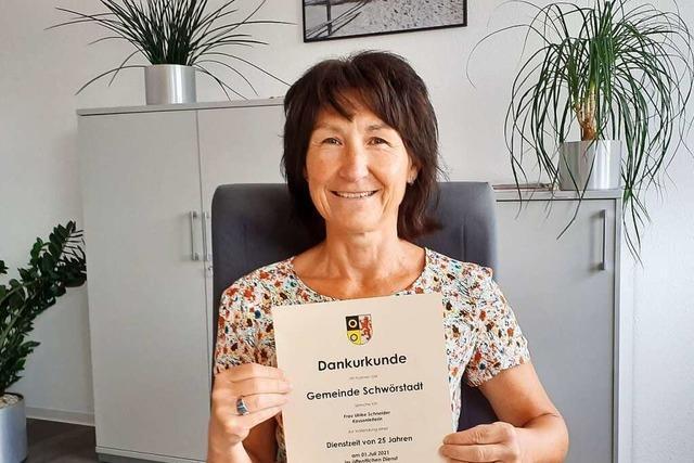 Ulrike Schneider arbeitet seit einem Vierteljahrhundert bei der Gemeinde Schwörstadt