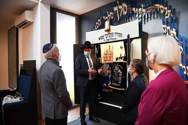 Innenminister Thomas Strobl besuchte Moshe Flomenmann in Lörrach