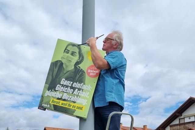 Vom Idealismus getrieben: Unterwegs mit Wahlplakatierern in Neustadt