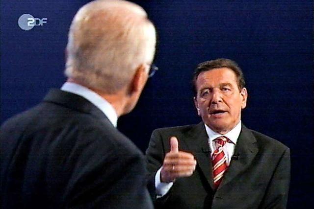 Der Mythos Kanzler-Duell begann mit Schröder vs. Stoiber