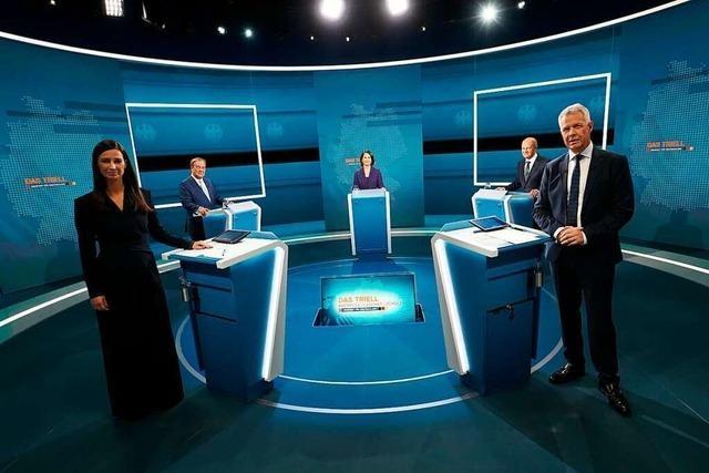 Drei Kandidaten, die getreu ihrer Ausgangspositionen agieren