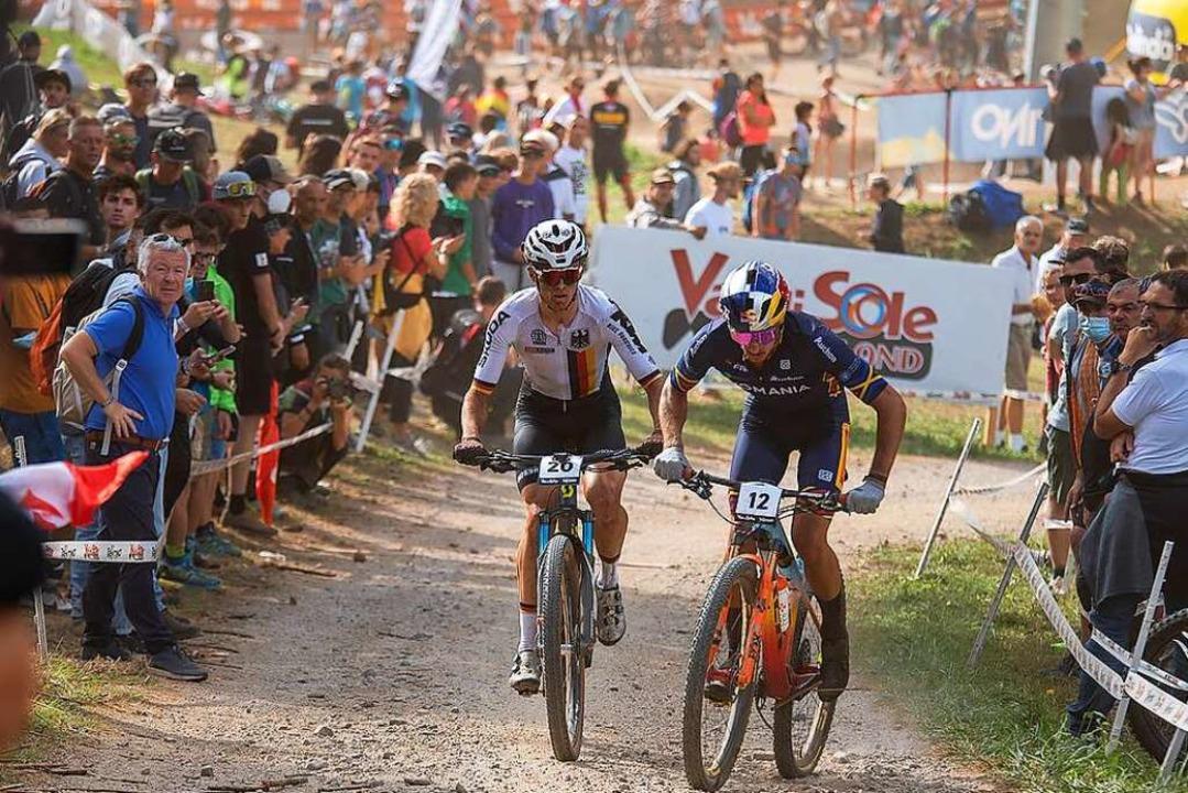 Dicht dran: Max Brandl (links) bot nac...ry-Rennen eine herausragende Leistung.    Foto: Merlin Muth
