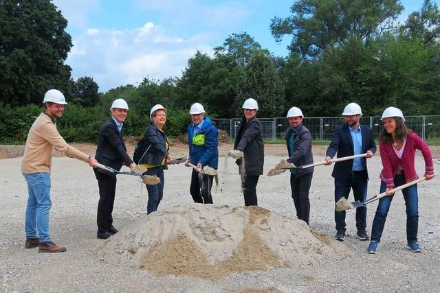 Der Bau des Waldorfkindergartens in Lörrach hat begonnen