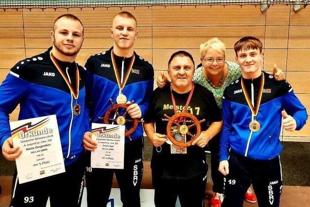 Vier Titel für Ringer der RG Lahr und des RSV Schuttertal bei der deutschen A-Junioren-Meisterschaft