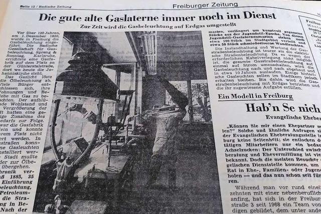 Gaslaternen waren im Spätsommer 1971 immer noch in Betrieb