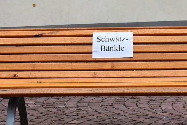Das Schwätz-Bänkle steht am Sonntag auch in Ettenheim bereit