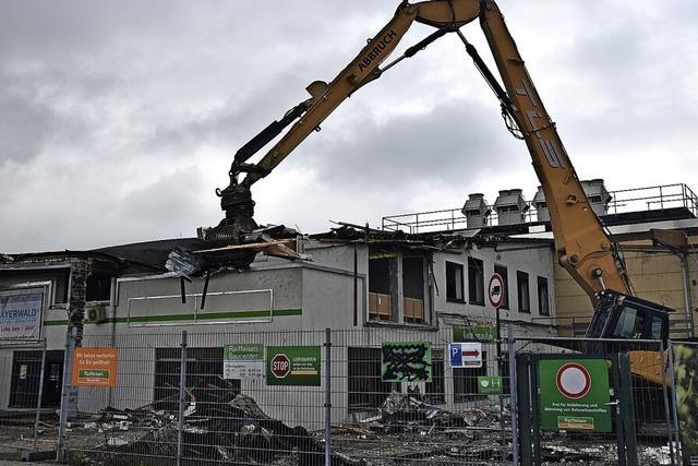 Der Raiffeisen-Markt in Kirchzarten wird abgerissen
