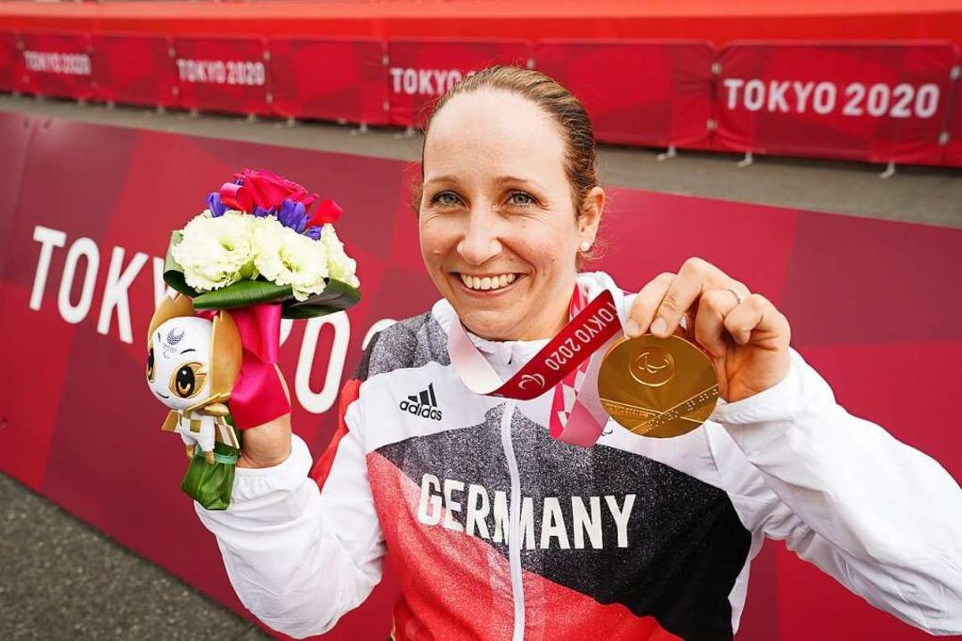 Para-Radsportlerin Annika Zeyen  | Foto: Marcus Brandt (dpa)