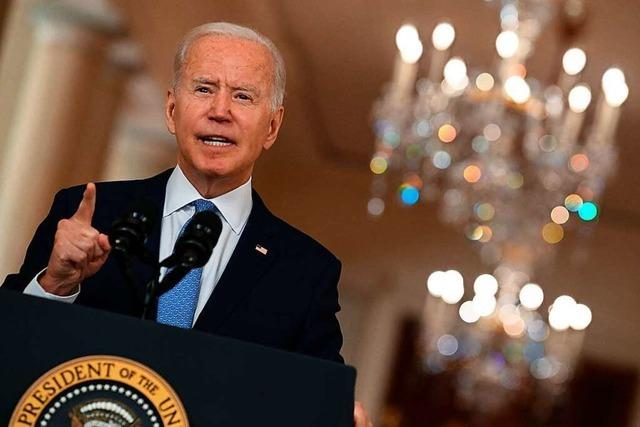 Biden verteidigt Truppenabzug aus Afghanistan gegen Kritik