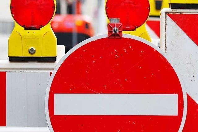 Autofahrer umgehen dreist die Straßensperrung in Rümmingen