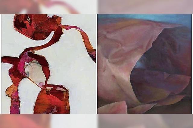 Die Künstlerinnen Hanna Benndorf und Gabriele Menzer stellen in Lörrach-Tüllingen aus