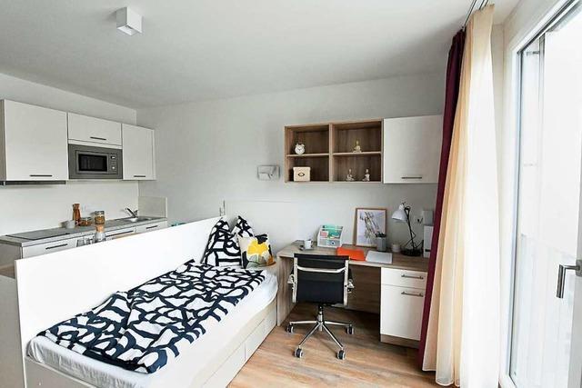 Im neuen Freiburger Studentenwohnheim