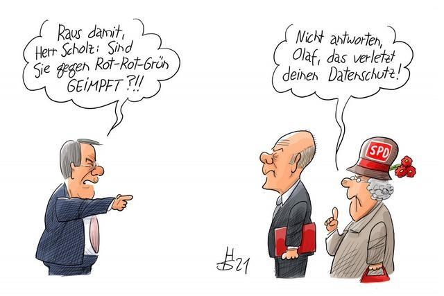 SPD: Impfabfrage im Wahlkampf illegal