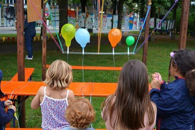 Freiburgs Kinderkunstdorf macht noch bis Samstag kreative Angebote