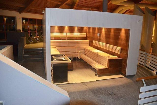 Die Probeöffnung den Sauna im Weiler Laguna steht auf der Kippe