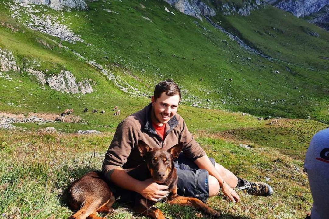 Simon Zimmermann mit Hund Lucky    Foto: Jonas Zimmermann