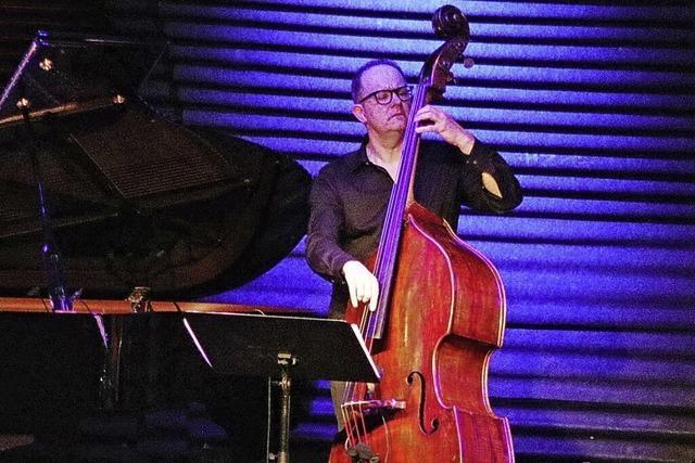 Der Jazzbassist Dieter Ilg spielt solo beim Sommer-Openair im Basler Hof
