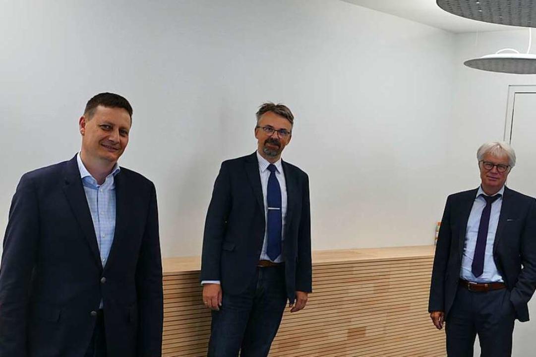 Geschäftsführer Andreas Heiler,  Bürge...namtlicher Geschäftsführer (von links)    Foto: Ulrich Senf