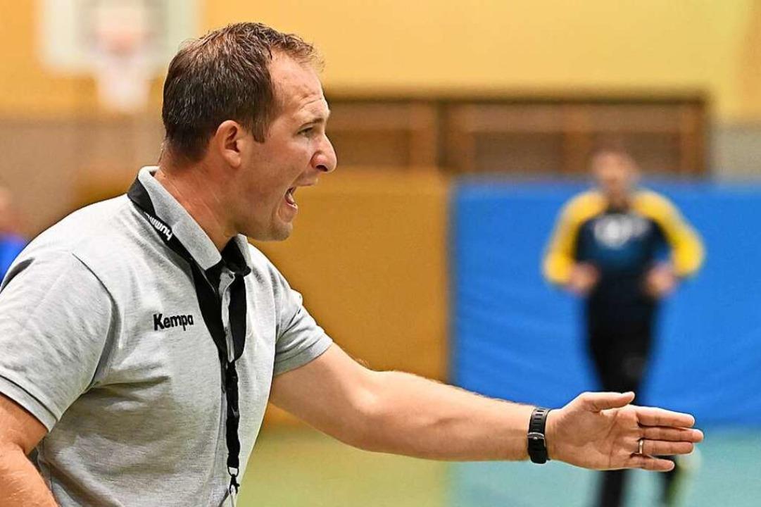 Der neue Mann an der Seitenlinie bei der HSG: Trainer Igor Bojic.  | Foto: Achim Keller