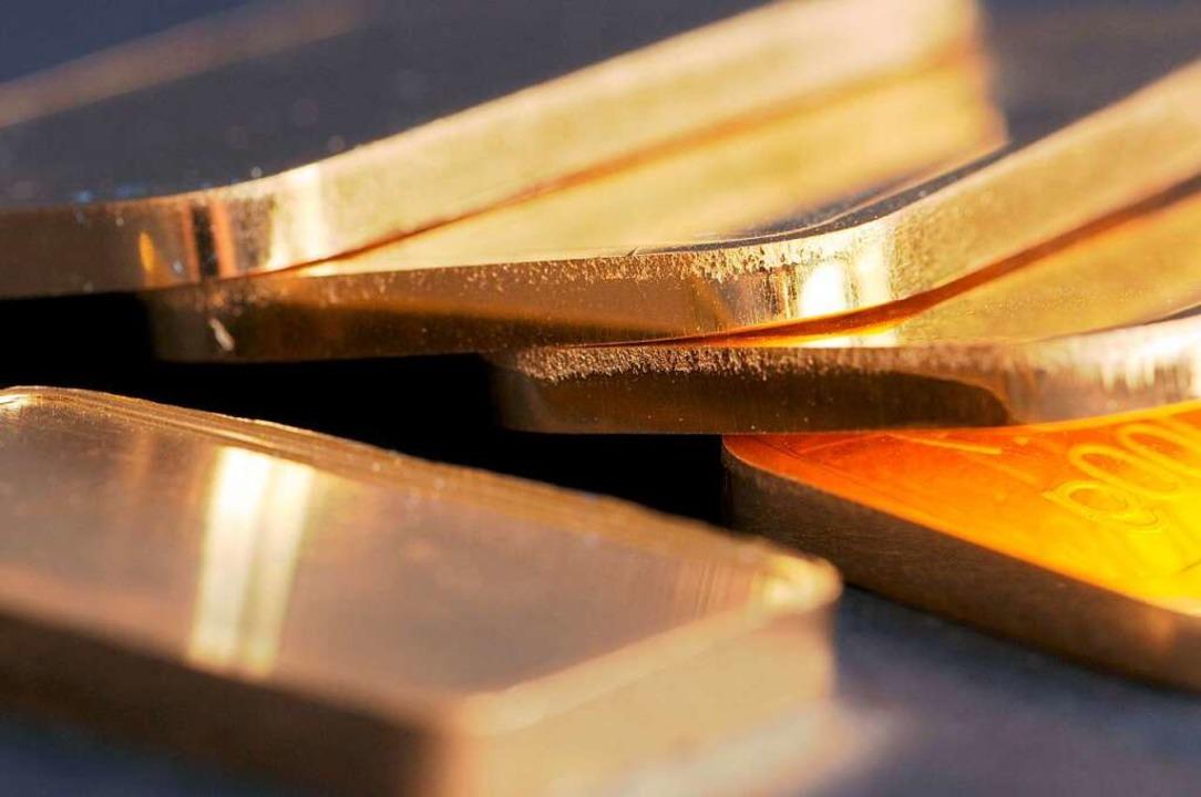 Gold kann glänzen – in vielerlei Hinsicht.  | Foto: Armin Weigel (dpa)