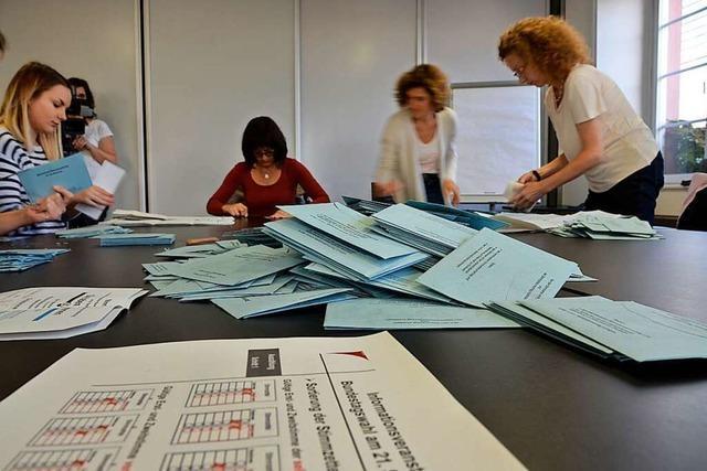 Wie im Wahlkreis Offenburg gewählt und ausgezählt wird