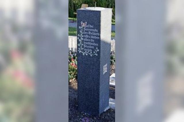 Ein Gedenkstein zum Ortsjubiläum