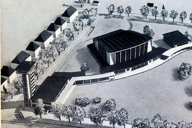 In nur 132 Arbeitstagen entstand 1954 die Freiburger Stadthalle