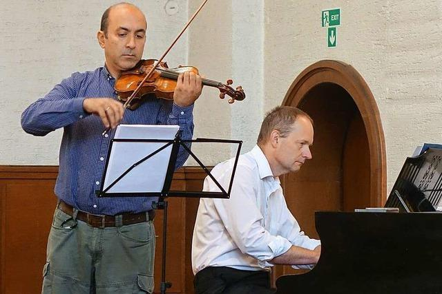 Bei der Rheinfelder Marktmusik bleib die Orgel ausnahmsweise stumm