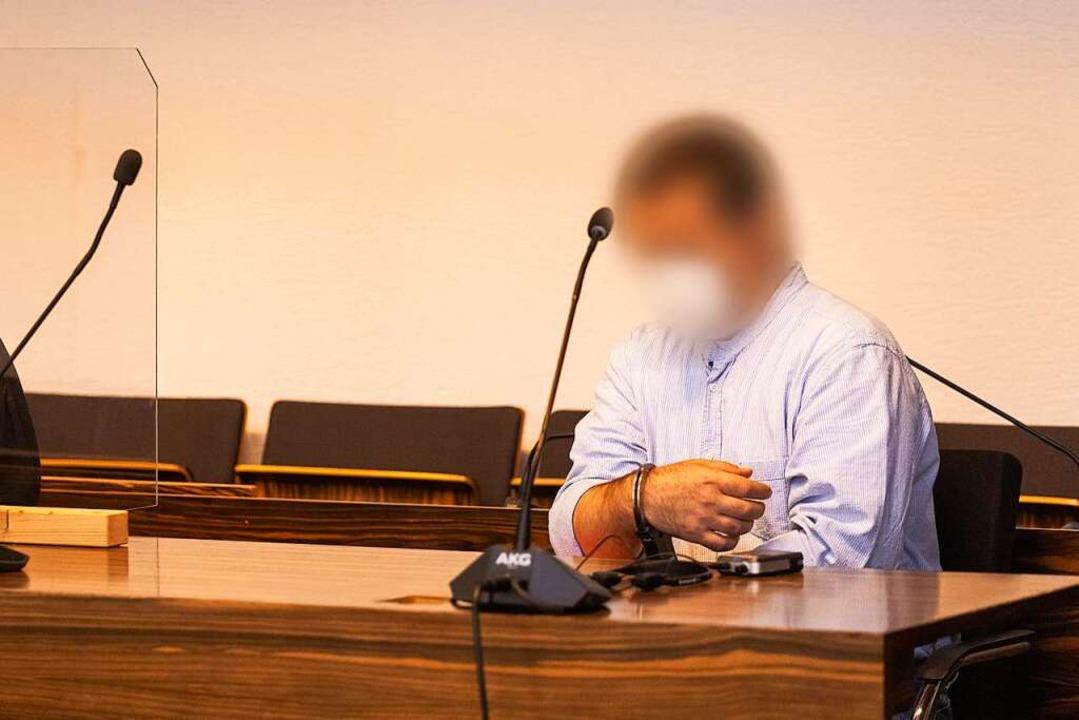Catalin C. am 25. August im Gerichtssaal in Freiburg  | Foto: Philipp von Ditfurth (dpa)