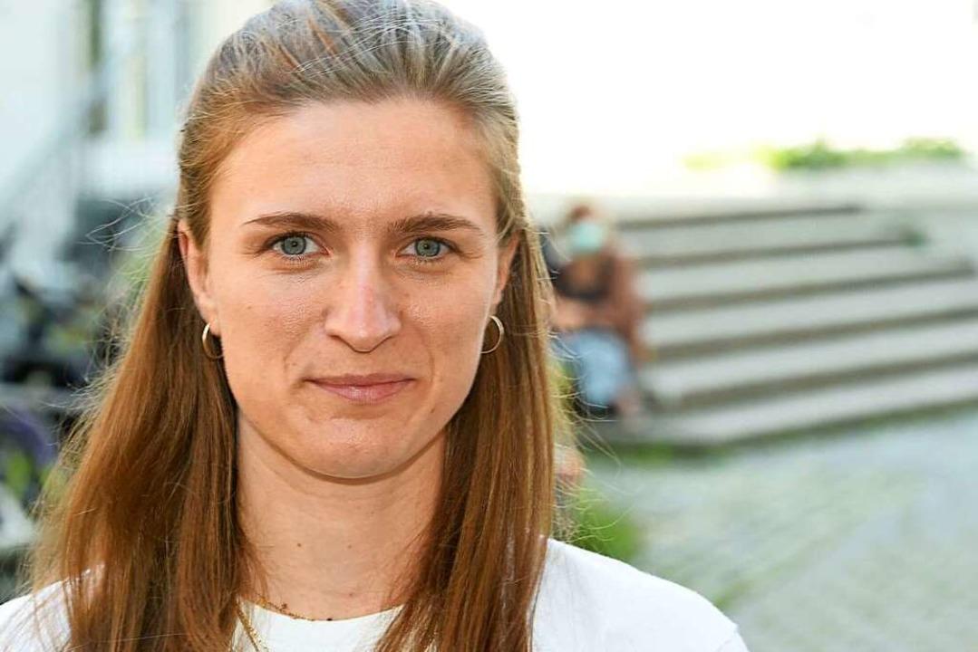 Marion Tiemann von Greenpeace  | Foto: Felix Hörhager (dpa)