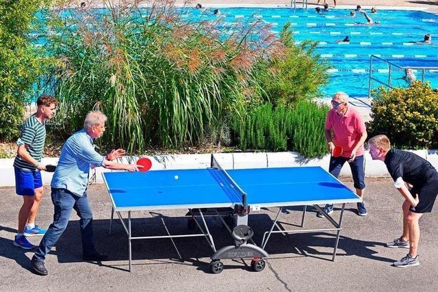 Rekordteilnahme beim Tischtennisturnier im Freiburger Strandbad