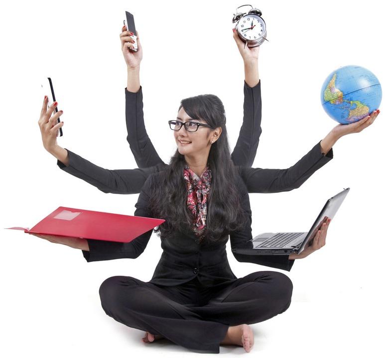 Sieht gut aus, geht aber nicht: Multitasking  | Foto: Creativa Images (Fotolia)