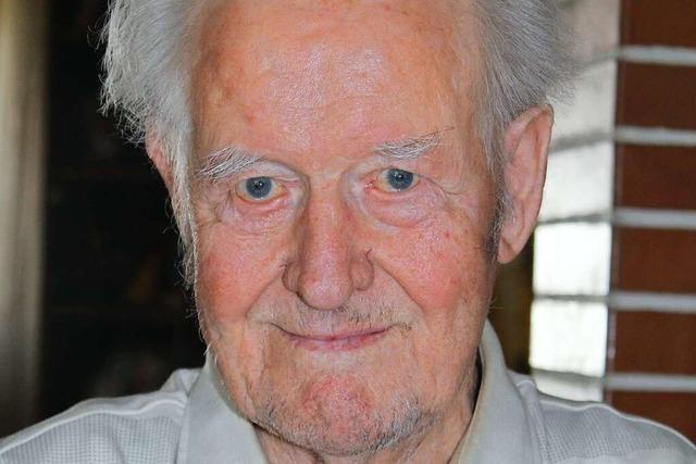 Ernst Rudolf Wiedemann aus Hasel wird 90 Jahre alt