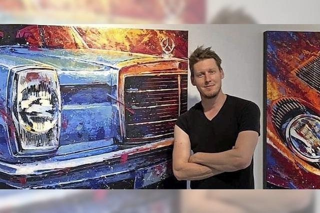 Designer und Maler Marco Giuliano Deusing aus Herborn stellt in Lörrach aus