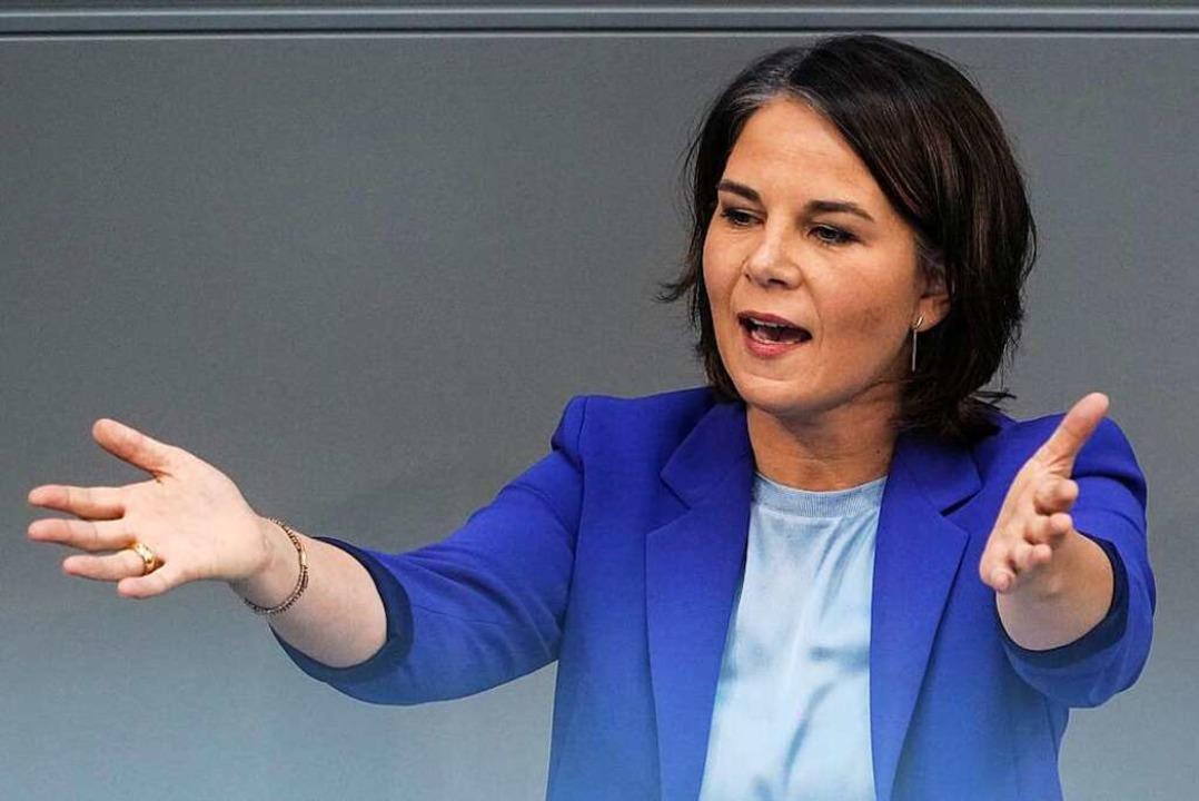Annalena Baerbock  würde gerne mit der SPD regieren – unter ihrer Führung.  | Foto: Kay Nietfeld (dpa)