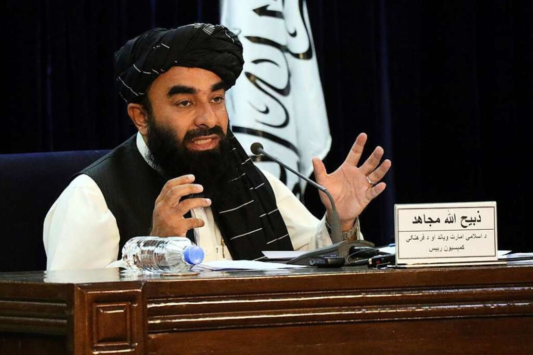 Taliban-Sprecher Sabiullah Mudschahid  | Foto: Muhammad Farooq (dpa)