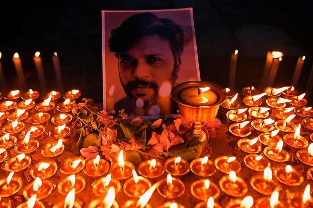 Der indische Fotojournalist Danish Sid...mland von Freiburg fordern Aufklärung.  | Foto: PRAKASH MATHEMA (AFP)