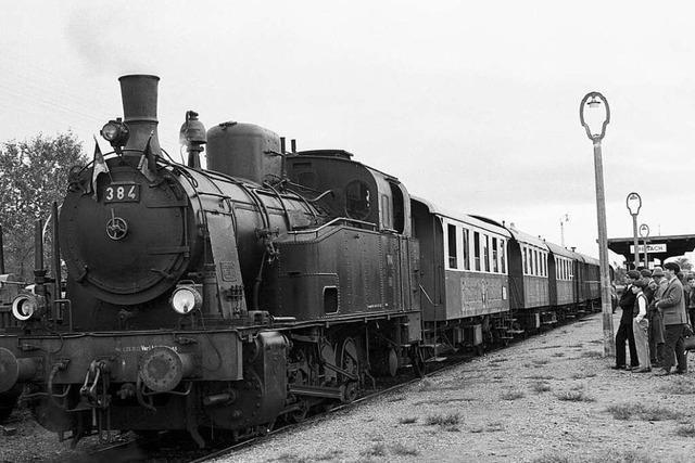 Seit 150 Jahren rollen Züge zwischen Freiburg und Breisach