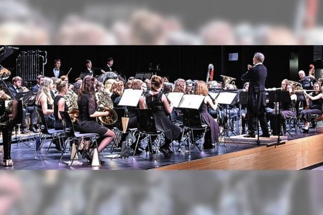 Junge Musiker treten auf