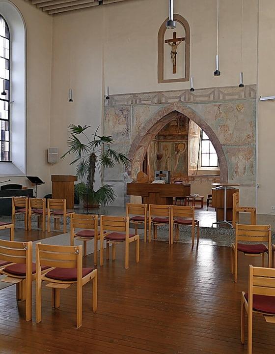 Eine Absturzsicherung  wird am der Mappacher  Kirche benötigt.    Foto: Victoria Langelott