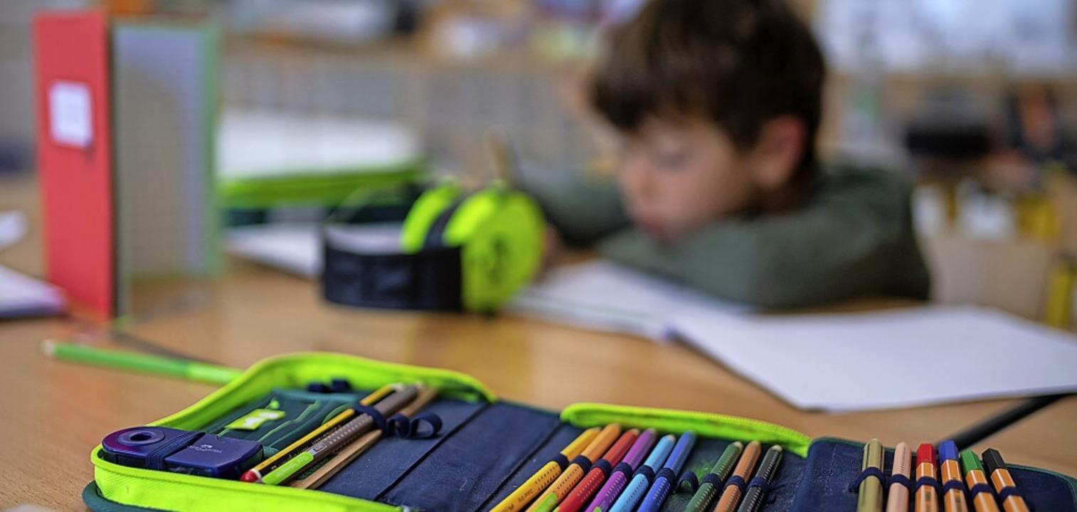 Bereits im Grundschulbereich kann Schu...fen, nicht auf der Strecke zu bleiben.  | Foto: Sven Hoppe (dpa)