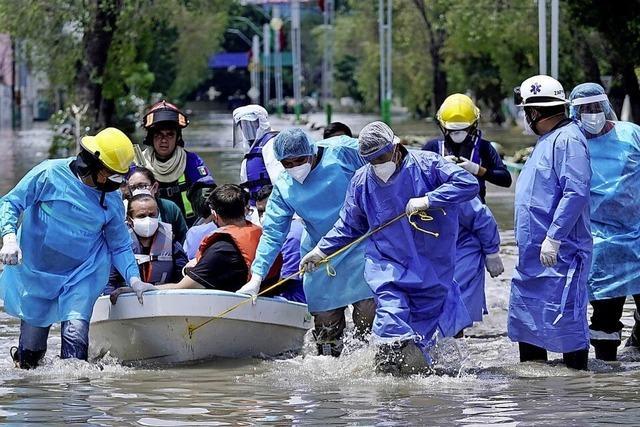 Krankenhaus in Mexiko überflutet