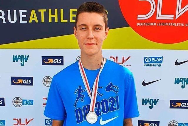 Wehrer Weitspringer Luan Kummle wird deutscher U-16-Vizemeister
