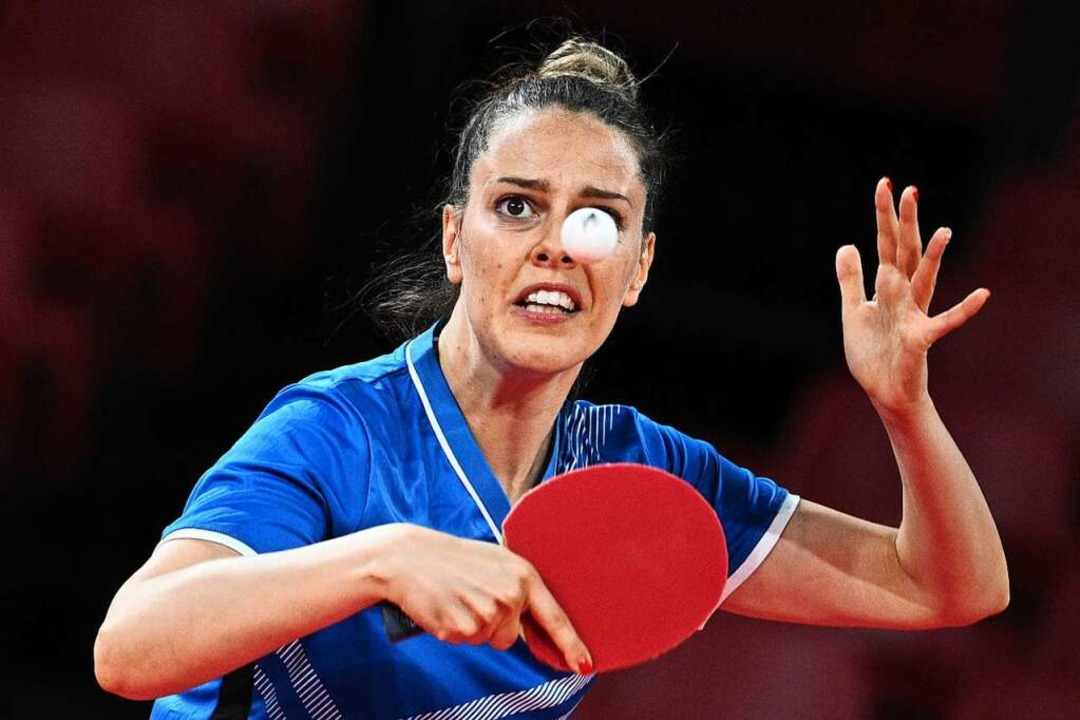 Nun die Nummer eins in Weil: Polina Tr...r bei den Olympischen Spielen in Tokio    Foto: ANNE-CHRISTINE POUJOULAT (AFP)