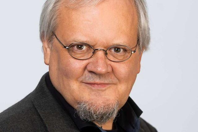 Tobias Pflüger von der Partei Die Linke stellt sich dem BZ-Fragenwirbel