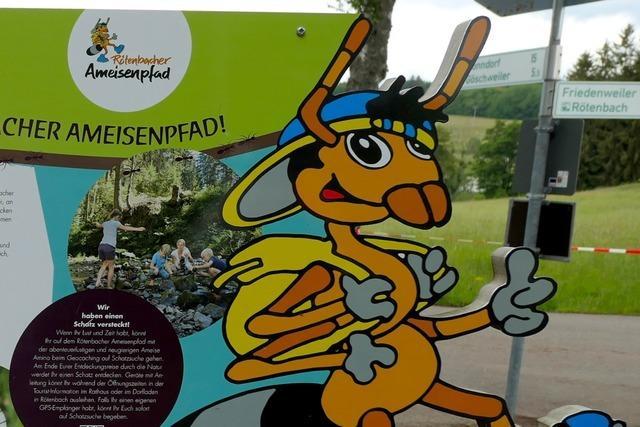 Unterwegs auf dem Rötenbacher Ameisenpfad in Friedenweiler