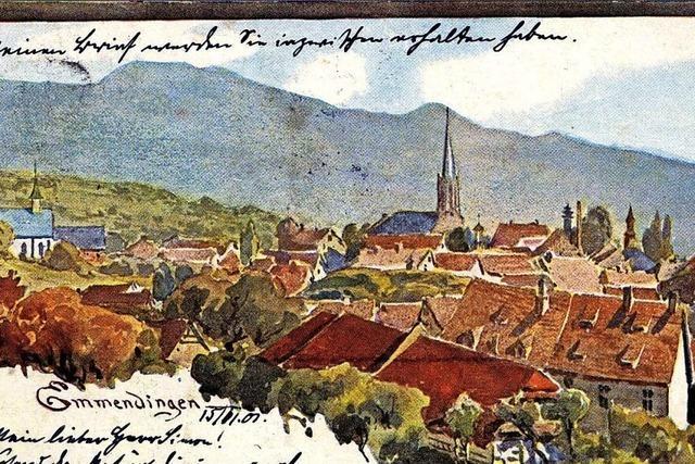 So präsentierte sich Emmendingen vor 100 Jahren auf Postkarten