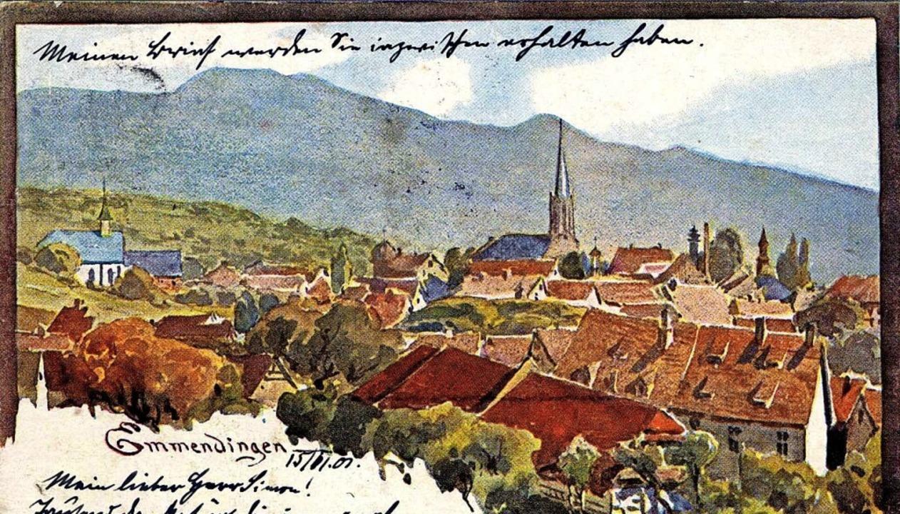 Blick auf Stadtkirche und St. Bonifatius, damals noch ohne Turm    Foto: Johannes Dilger