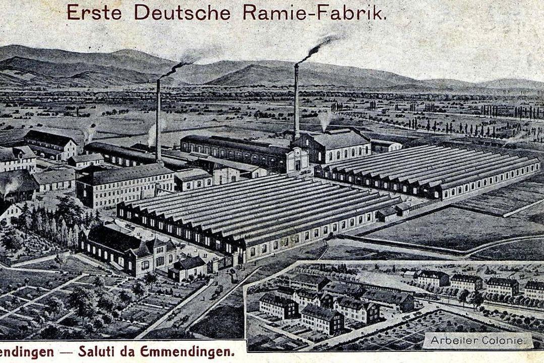 Die Ramie AG, Zeugnis eines aufstrebenden Wirtschaftslebens    Foto: Johannes Dilger