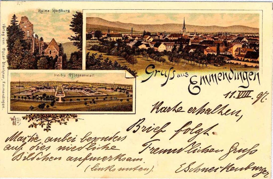 Die Hochburg und die Kirchen durften auf den Karten nicht fehlen.    Foto: Johannes Dilger